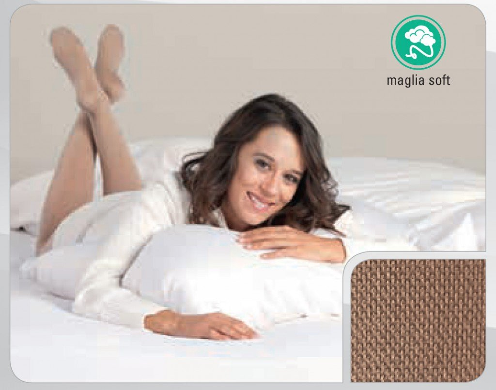 Calze alla coscia JUZO Soft 2002 punta chiusa senza elastico - calze elastiche classe 2