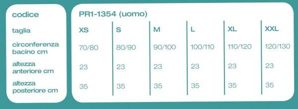 PR1-1354-tabella misure